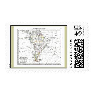 1806 Map - L'Amérique Méridionale Postage Stamp