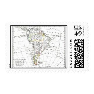 1806 Map - L'Amérique Méridionale Postage Stamps