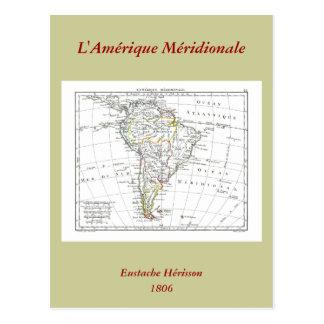 1806 Map - L'Amérique Méridionale Postcard