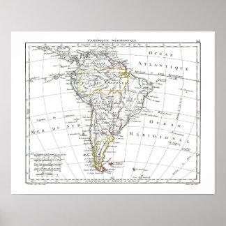 1806 Map - L'Amérique Méridionale Poster