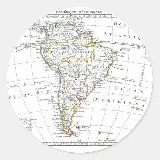 1806 Map - L'Amérique Méridionale Classic Round Sticker