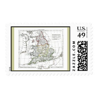 1806 Map - L'Angleterre Postage Stamp