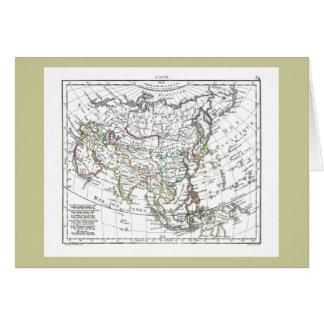 1806 Map - L'Asie Greeting Card