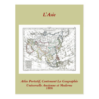 1806 Map - L'Asie Postcard