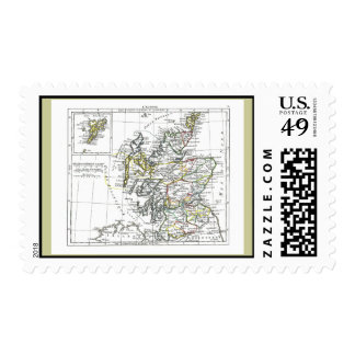 1806 Map - L'Ecosse Stamps