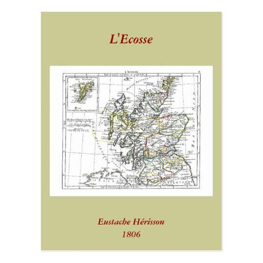 1806 Map - L'Ecosse Postcard