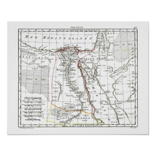 1806 Map - L'Egypte Poster