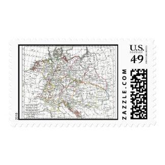 1806 Map - L'Empire d'Allemagne Stamp
