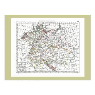 1806 Map - L'Empire d'Allemagne Postcard