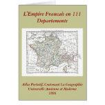 1806 Map - L'Empire Francais en 111 Departements Greeting Card