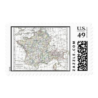 1806 Map - L'Empire Francais en 111 Departements Postage Stamps