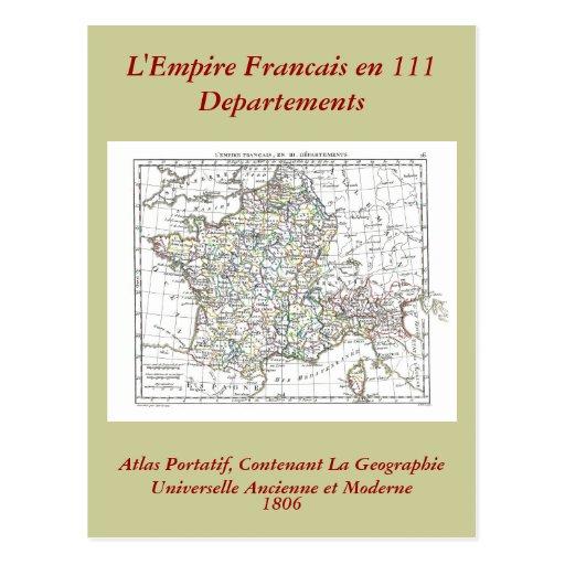 1806 Map - L'Empire Francais en 111 Departements Post Cards