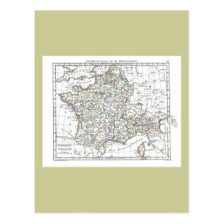 1806 Map - L'Empire Francais en 111 Departements Postcard