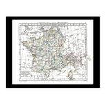1806 Map - L'Empire Francais en 111 Departements Post Card