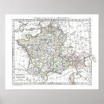 1806 Map - L'Empire Francais en 111 Departements Print
