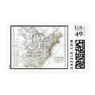 1806 Map - Les Etats Unis d'Amrique Postage Stamp