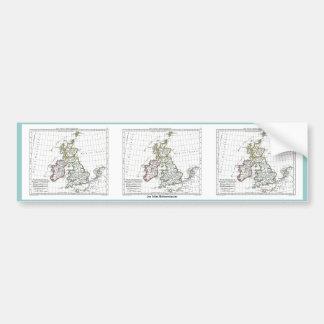 1806 Map - Les Isles Britanniques Car Bumper Sticker