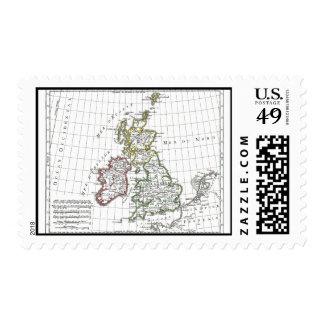 1806 Map - Les Isles Britanniques Stamps