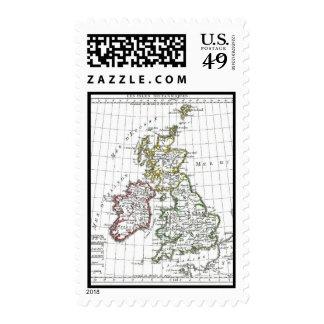 1806 Map - Les Isles Britanniques Postage Stamp