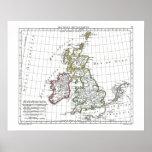 1806 Map - Les Isles Britanniques Print