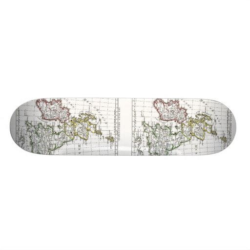 1806 Map - Les Isles Britanniques Skate Deck