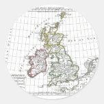 1806 Map - Les Isles Britanniques Stickers