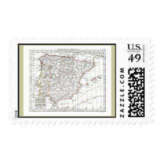 1806 Map - L'Espagne et le Portugal Postage