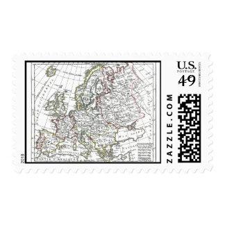 1806 Map - L'Europe Stamp