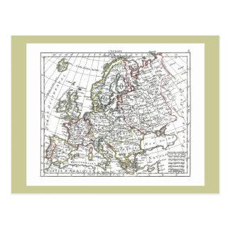 1806 Map - L'Europe Postcard