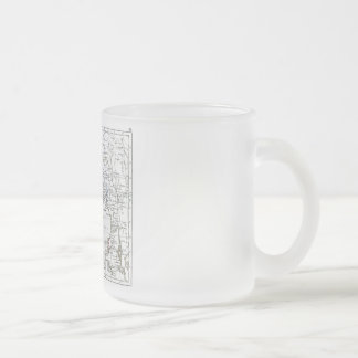 1806 Map - L'Inde Frosted Glass Coffee Mug