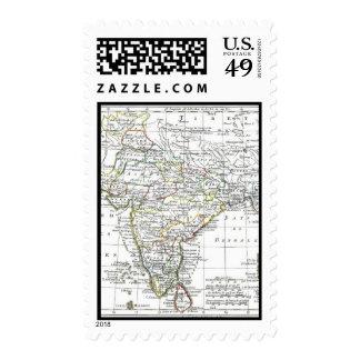 1806 Map - L'Inde Stamps