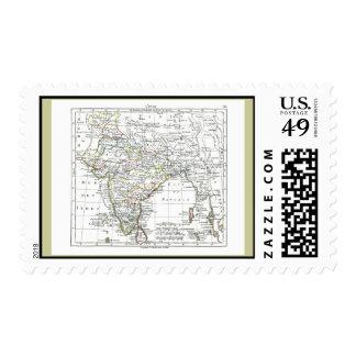 1806 Map - L'Inde Postage Stamp