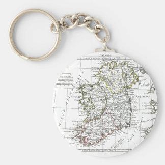 1806 Map - L'Irlande Keychain