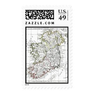 1806 Map - L'Irlande Postage Stamps
