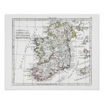 1806 Map - L'Irlande Posters