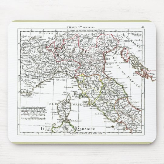 1806 Map - L'Italie (Nord) Mouse Pad