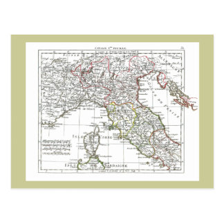 1806 Map - L'Italie (Nord) Postcard