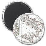 1806 Map - L'Italie (Sud) 2 Inch Round Magnet