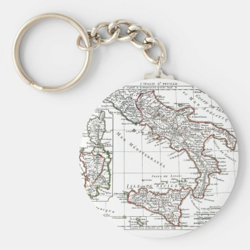 1806 Map - L'Italie (Sud) Keychains