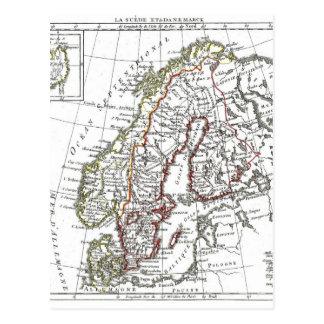 1806 mapa - ante del La en le Danemarck Postales