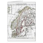 1806 mapa - ante del La en le Danemarck Tarjeta