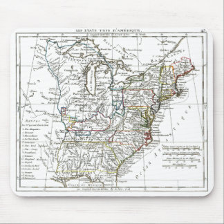 1806 mapa - d Amrique de Les Etats Unis Alfombrillas De Raton