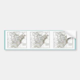 1806 mapa - d'Amrique de Les Etats Unis Etiqueta De Parachoque