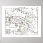 1806 mapa - d'Asie de Turquie del La Posters