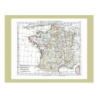 1806 mapa - en 32 Gouvernements de Francia del La Postal