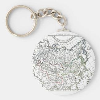 1806 mapa - La grande Tartarie Llaveros Personalizados