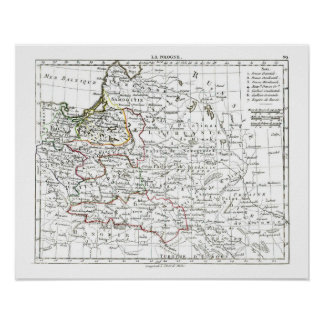 1806 mapa - La Pologne Posters