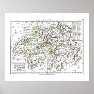 1806 mapa - La Suisse Impresiones