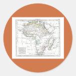 1806 mapa - L'Afrique Etiquetas Redondas