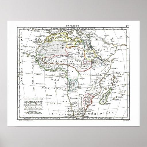 1806 mapa - L'Afrique Poster